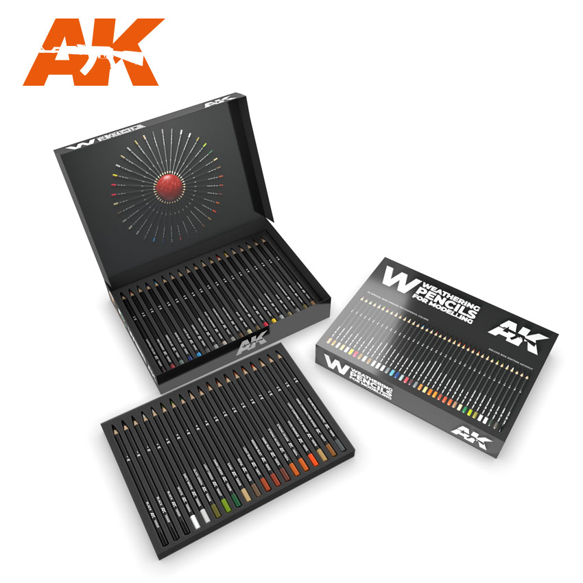 AK Interactive Weathering Pencils | Scale Models and Reviews